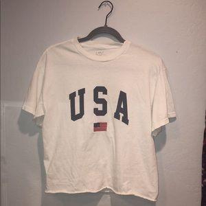 USA t-shirt with tiny flag
